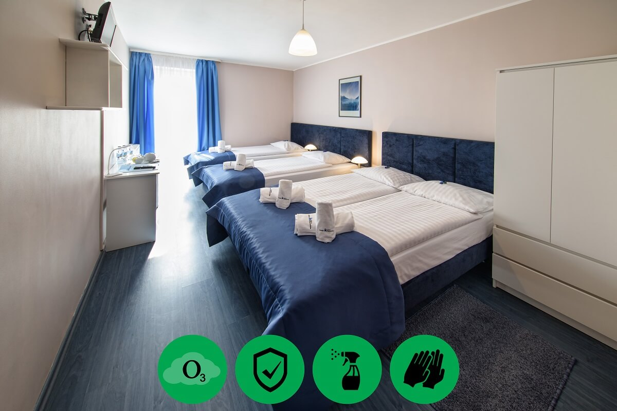 For a weekend trip in Krakow, or for a longer vacation among the closest ones, the family room is ideal. Regardless of the age of children, a family of four can expect a comfortable stay in our hotel.